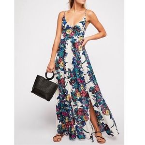 Perfect condition free people floral maxi dress